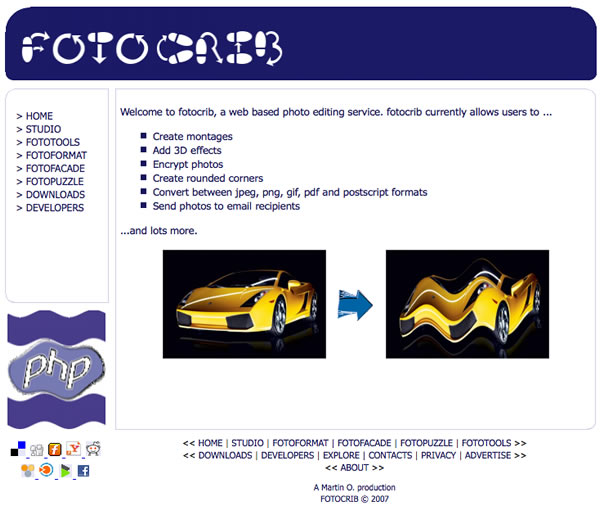 Photo Editing Software fotocrib