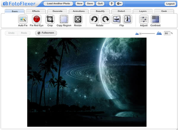 Online Photo Editing Software fotoflexer