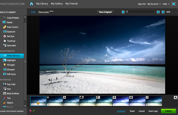 Online Photo Editing Software photoshop