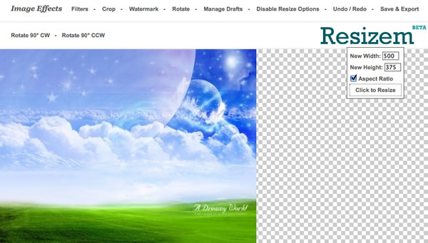 Online Photo Editing Software resizem
