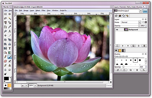 free photo editing software GIMPShop